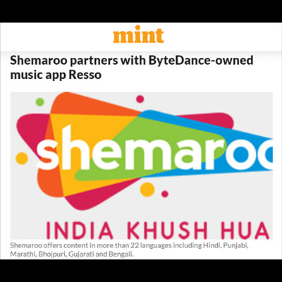 Shemaroo partners with ByteDance-owned music app Resso