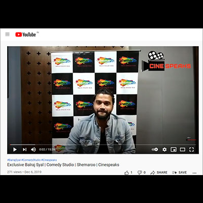 Exclusive Balraj Syal | Comedy Studio | Shemaroo | Cinespeaks