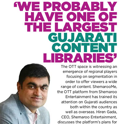 We probably have one of the largest Gujarati content libraries